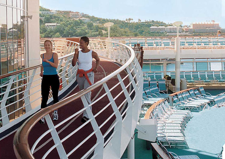 Jog or speed-walk on a dedicated track during your Explorer of the Seas sailing.