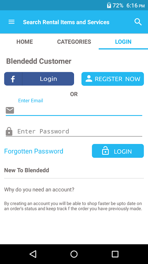 Blendedd- screenshot
