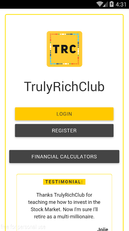 TrulyRichClub- screenshot