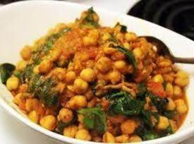 Chickpea Curry With Spinach