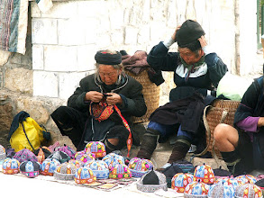 Photo: Sa Pa, kobiety z ludu Czarnych Hmongów / A Black Hmong women