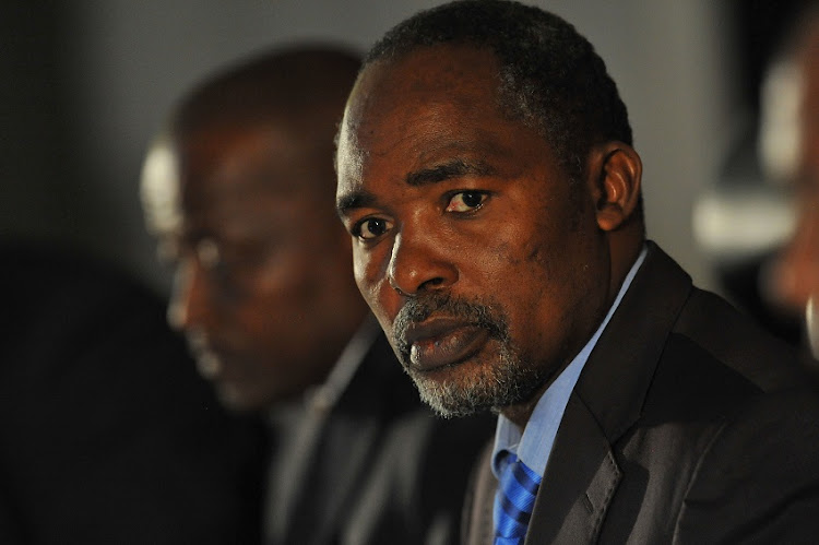Former SAFA Acting President Chief Mwelo Nonkonyana during the South African Football Association Technical Symposium media briefing at SAFA House, Press Conference Room on February 02, 2012 in Johannesburg.