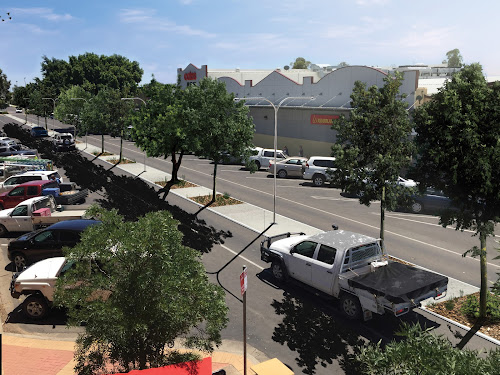 An artist's impression by Darrell Tiemens of the proposed median strip along the CBD blocks in Maitland Street, this view being from the balcony of Watson's Kitchen. Narrabri Shire Council has voted to install a 2m-wide median strip as part of the CBD lighting upgrade.