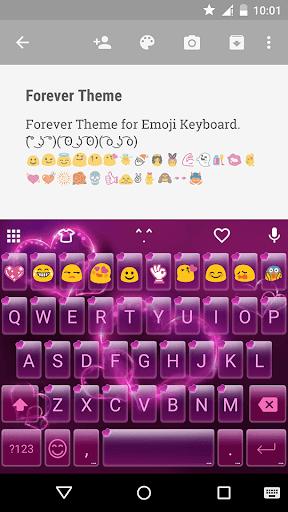 Forever Emoji Keyboard Theme