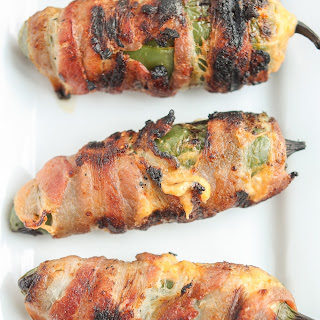 Bacon Wrapped Pimento Stuffed Jalapenos.