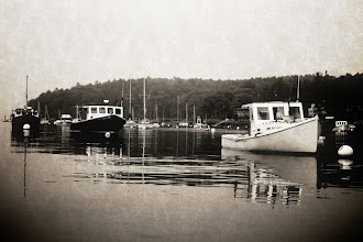 Photo: Rockport Harbor, ME - Antique Technique Tried something a little bit different today, dusting off the old Photoshop skills. I took a 2003 snapshot of Rockport Harbor, Maine and distressed it.  Day 46 of #365Project  I posted a brief tutorial on my technique at http://go.capria.tv/a8