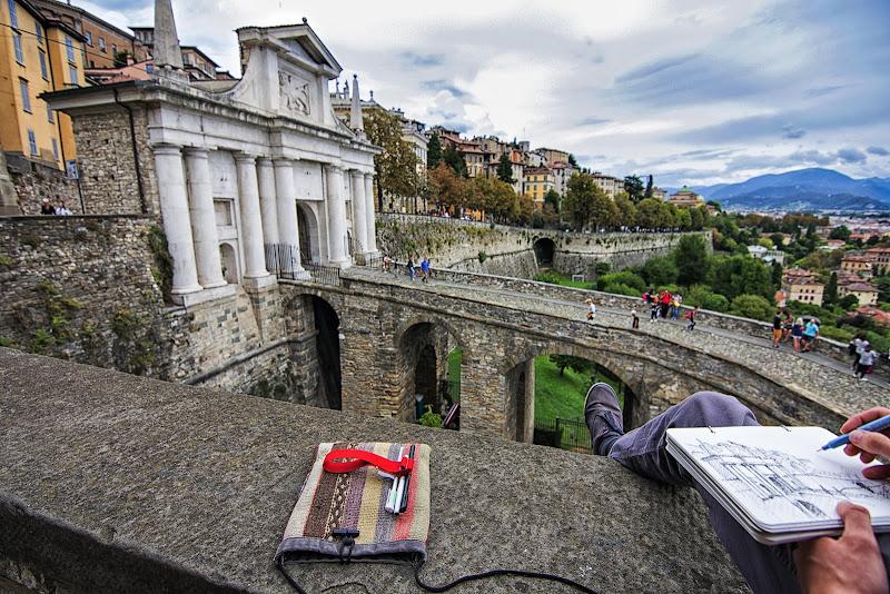 Artista in Porta san Giacomo,Bergamo.  di Cperso