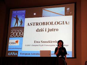 Photo: Wykład wstępny prof. Ewy Szuszkiewicz.