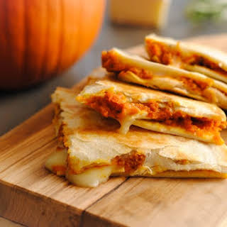 Pumpkin-Brie Quesadillas.