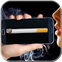 Smoking virtual cigarette icon