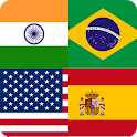 Flags Quiz Gallery : Quiz flags name and color icon