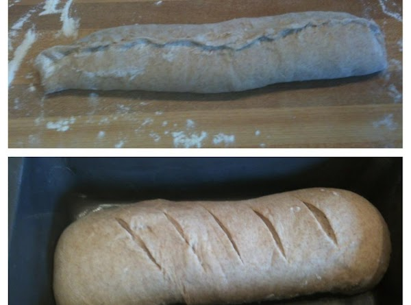 Roll into loaves and pinch the seams together. Place loaves, seam side down, into...