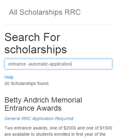 All Scholarships RRC