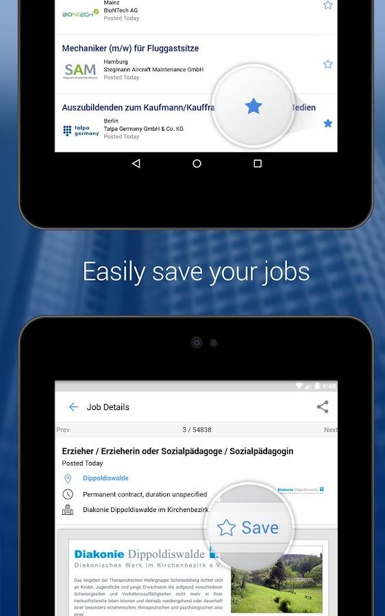 StepStone Job App- screenshot