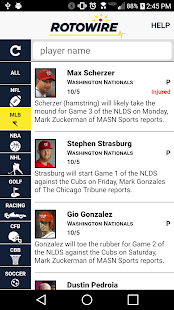 RotoWire News Center- screenshot thumbnail