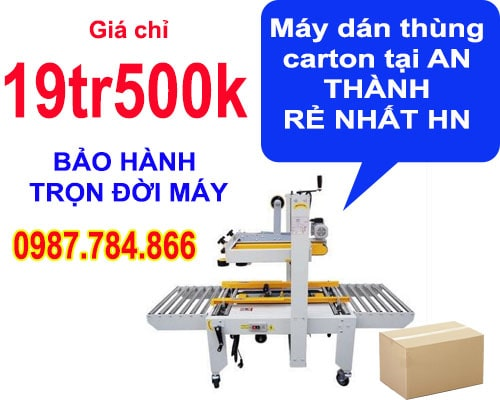 giá bán máy dán thùng carton tại An Thành