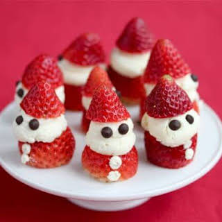 Strawberry Whipped Cream Santas.