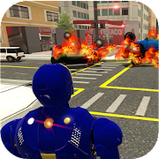 Grand Iron Superhero Flying - City Rescue Mission