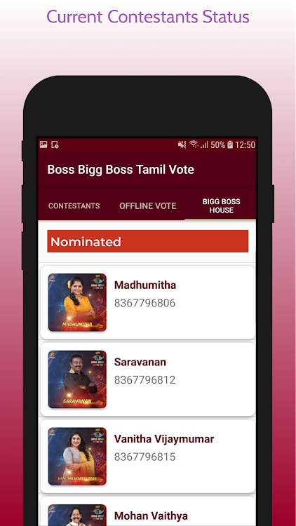Boss Big Boss Tamil 3 Vote – (Android تطبيقات) — AppAgg