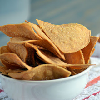 Easy Baked Tortilla Chips Recipe-Baked Corn Tortilla Chip