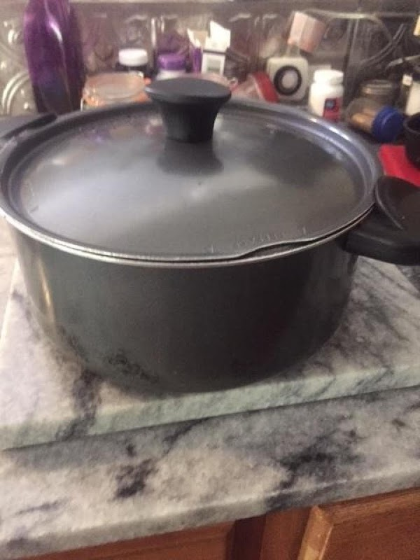 In large pot (with lid,) over high / medium high heat, add the vegetable...