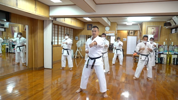 A group of people in karate uniforms  Description automatically generated with medium confidence