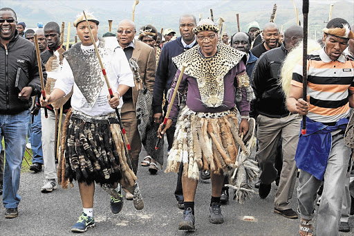 SET FOR A FIGHT: President Jacob Zuma's clan held a traditional ceremony in his home village of Nkandla, in northern KwaZulu-Natal, to appease his ancestors and appeal for their support ahead of the ANC's crucial national elective conference in Mangaung next month