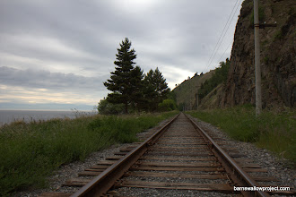 Photo: Georgy's Photo: The Transiberian railway alongside the Baikal...now only used for a biweekly tour and for supplies