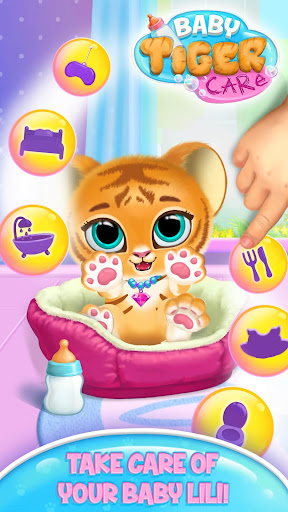 Baby Tiger Care - My Cute Virtual Pet Friend apktreat screenshots 1