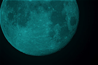 Photo: About 500 frames of the full moon stacked in registax and sharpened in photoshop.