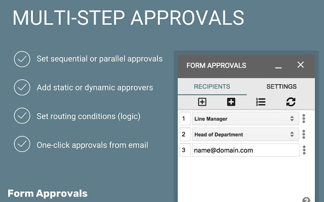 Form Approvals - Google Forms add-on