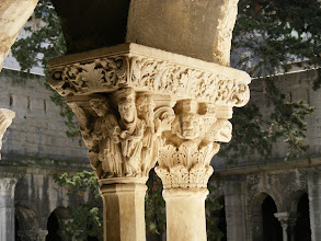 Photo: Cleaning of the cloister's interior began just a few years ago, and is still incomplete.