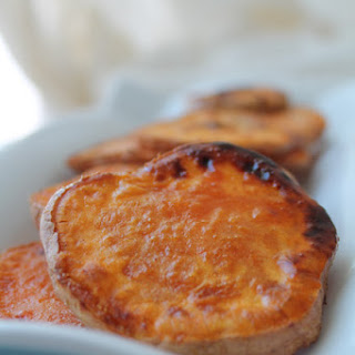 Spicy Maple Roasted Sweet Potatoes