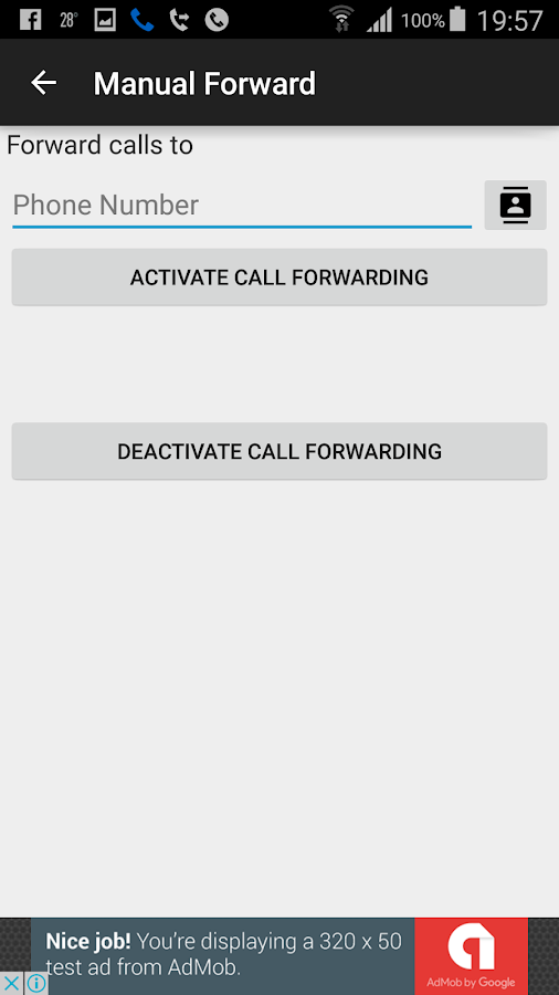 Automatic Call Forwarding- screenshot