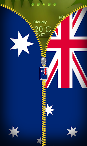 Australia Flag Zipper Locker