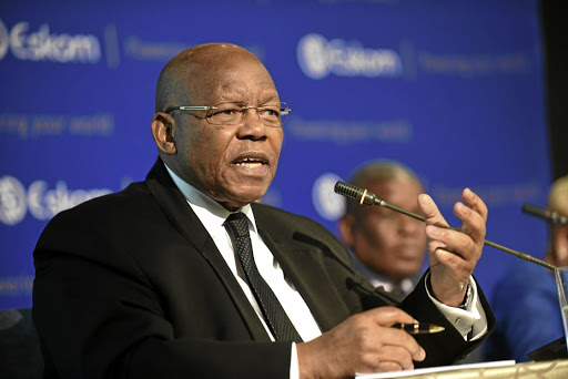 Ben Ngubane, Eskom chairman, speaks at the media briefing. Picture: FREDDY MAVUNDA