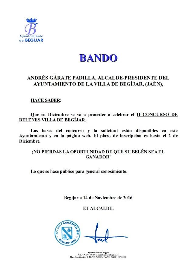 Bando II Concurso Belenes