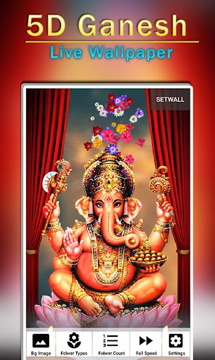 5D Ganesh Live Wallpaper - Lord Ganesh, Hindu gods 1.0.3 screenshots 3