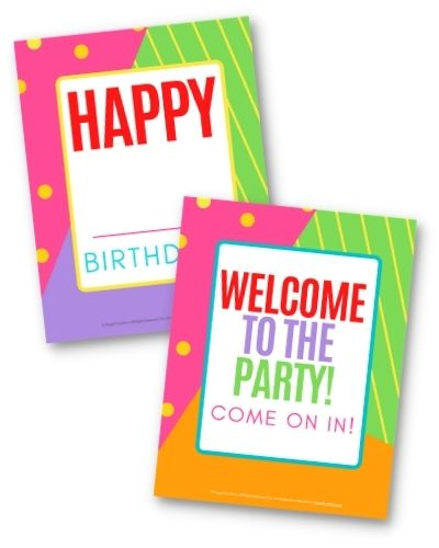Instant Party Toolkit Signs