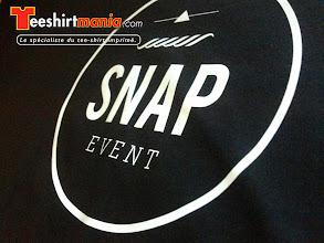 Photo: Teeshirt personnalisé en flocage les pour SNAP EVENT