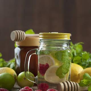 Flat Belly Raspberry Lemon Detox Water.