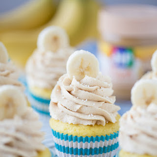 Peanut Butter Banana Maple Cupcakes
