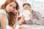 Yes it really happened: apparently some people aren't shy to lick their plates on a date.