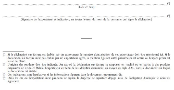 Декларация-инвойс Франция