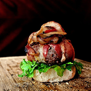 Bacon-Wrapped Chicken Burgers