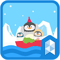 Journey of penguin theme icon