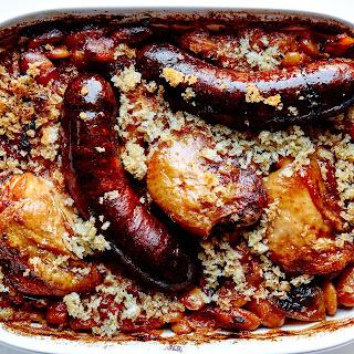 Confit Chicken Thigh and Andouille Sausage Cassoulet