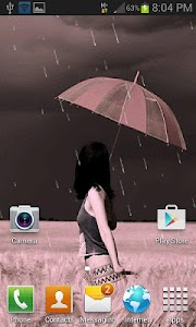 Rain Beauty Girl LWP screenshot 1