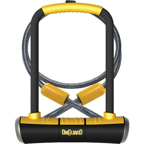On Guard PitBull U-Lock DT with Cable and Bracket: 4.5 x 9""