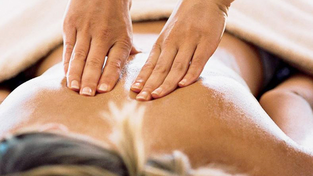 Pair of Hands Massaging Someone's Back
